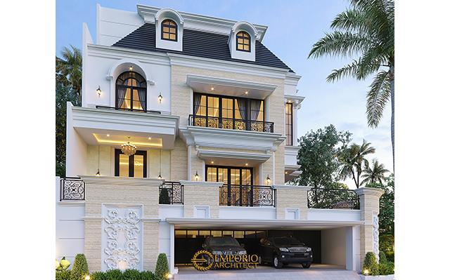 Desain Rumah Mediteran 4 Lantai Ibu Eli di  Jakarta Utara