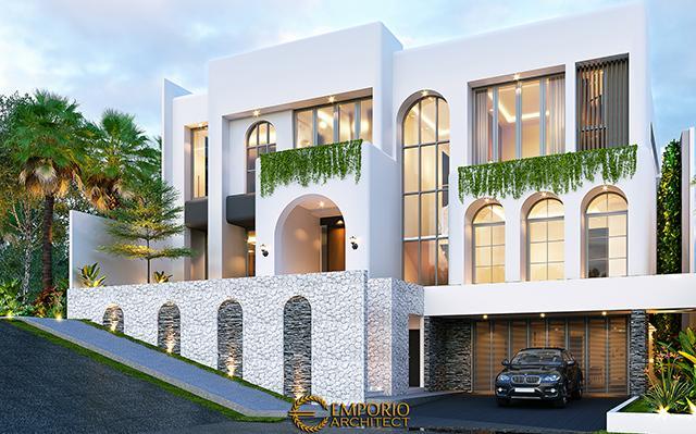 Mrs. Linda Santorini House 2.5 Floors Design - Jakarta