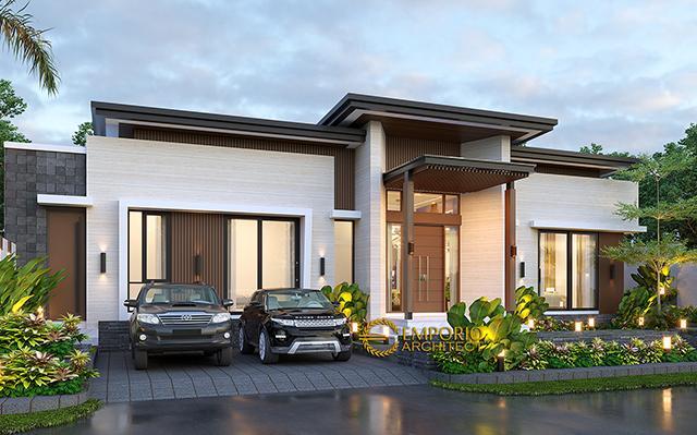 Desain Rumah Modern 1 Lantai Bapak Jeremia di  Pekanbaru, Riau