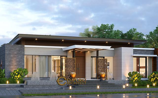Desain Rumah Modern 1 Lantai Bapak Kevin di  Palangka Raya, Kalimantan Tengah