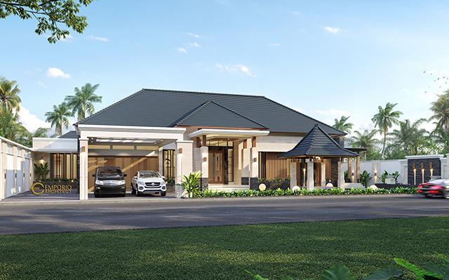 Desain Rumah Modern 1 Lantai Bapak Malik di  Sragen, Jawa Tengah