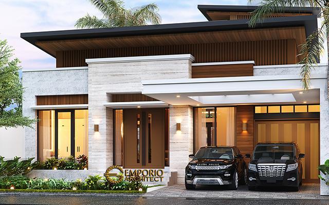 Desain Rumah Modern 1.5 Lantai Bapak Reza di  Pekanbaru, Riau