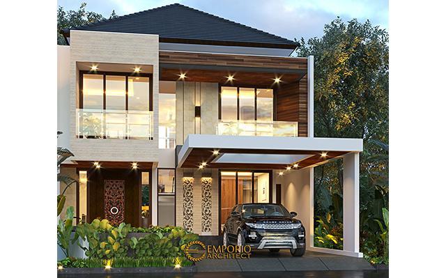 Desain Rumah Modern 2 Lantai Ibu Putu di  Bekasi, Jawa Barat