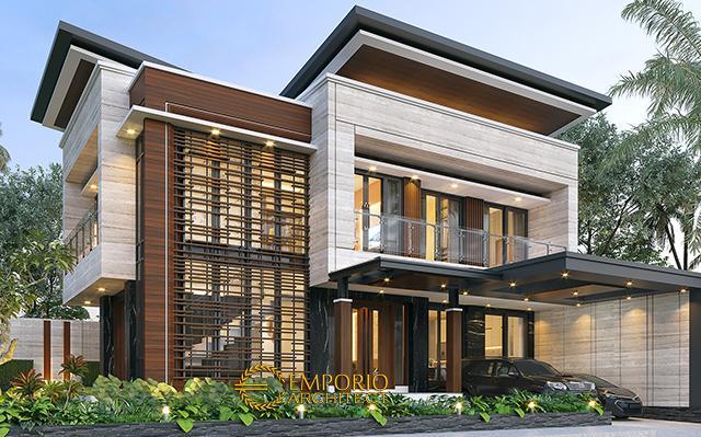 Desain Rumah Modern 2 Lantai Bapak Yandra di  Padang, Sumatera Barat