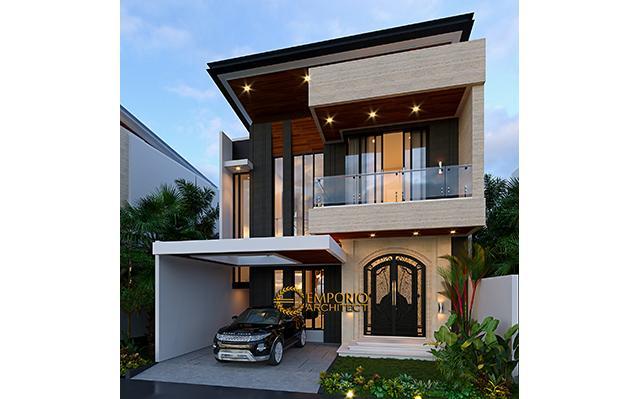 Desain Rumah Modern 2 Lantai Bapak Johan di  Depok, Jawa Barat