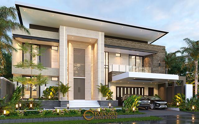 Desain Rumah Modern 2 Lantai Ibu Yeti di  Lampung