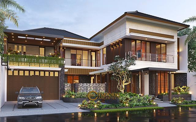 Desain Rumah Modern 2 Lantai Bapak Kris di  Yogyakarta