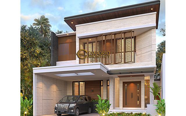 Desain Rumah Modern 2 Lantai Ibu Mega di  Palembang