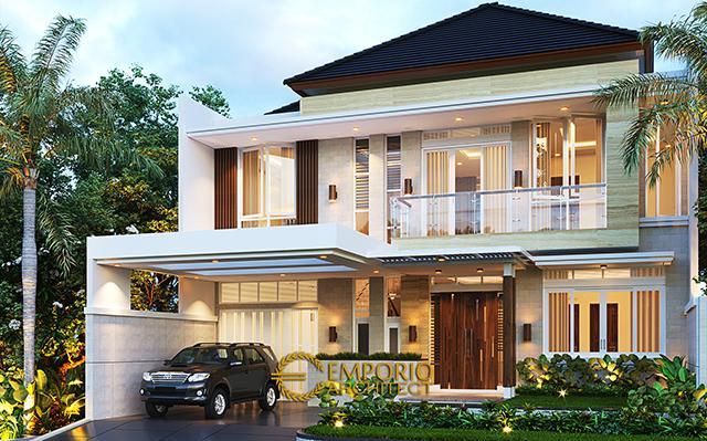 Desain Rumah Modern 2 Lantai Ibu Hani di  Bogor, Jawa Barat