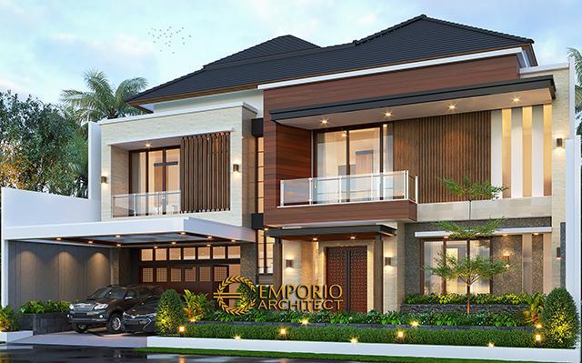 Desain Rumah Modern 2 Lantai Ibu Merry di  Jakarta Selatan