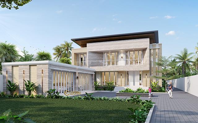 Desain Rumah Modern 2 Lantai Bapak Dicky di  Palu, Sulawesi Tengah
