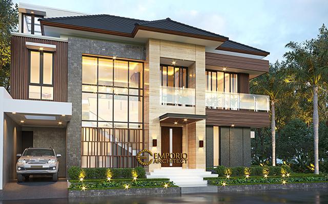 Desain Rumah Modern 2 Lantai Bapak Iqbal di  Jakarta Timur