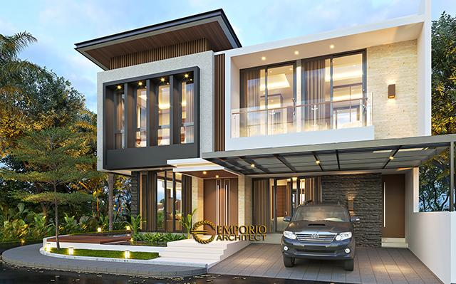 Desain Rumah Modern 2 Lantai Bapak Firnaz di  Jakarta