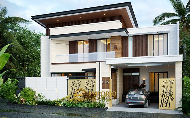 Desain Rumah Modern 2 Lantai Bapak Danny di  Malang, Jawa Timur