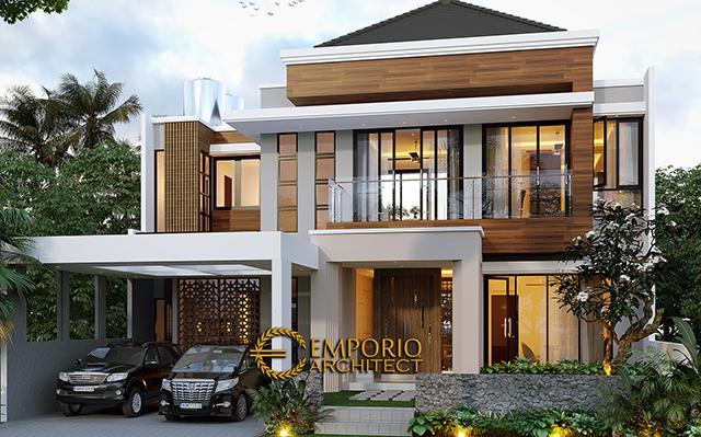 Desain Rumah Modern 2 Lantai Bapak Hermanto di  Bogor, Jawa Barat