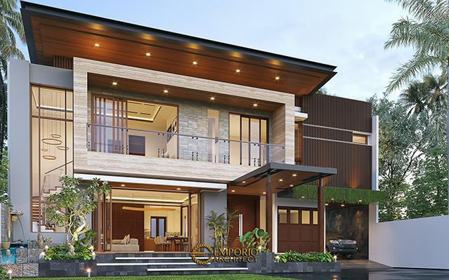 Desain Rumah Modern 2 Lantai Ibu Namira di  Jakarta Timur