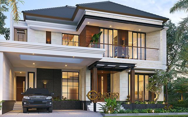 Desain Rumah Modern 2 Lantai Ibu Margaretha di  Jayapura, Papua