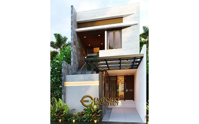 Desain Rumah Modern 2 Lantai Ibu Dyana di  Jakarta Utara