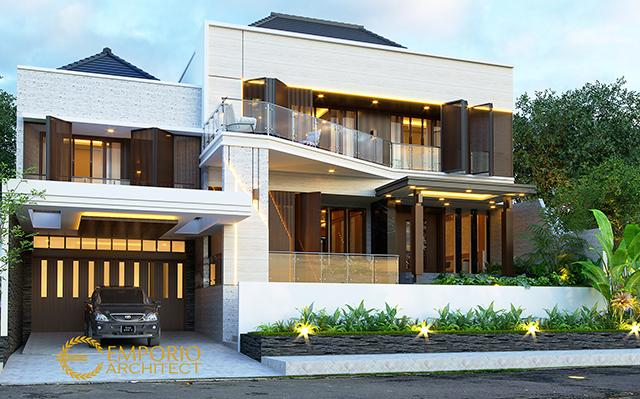 Desain Rumah Modern 2 Lantai Ibu Diana di  Bandar Lampung