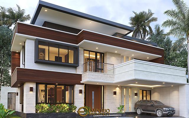 Desain Rumah Modern 2 Lantai Bapak Arifin di  BSD, Tangerang Selatan, Banten