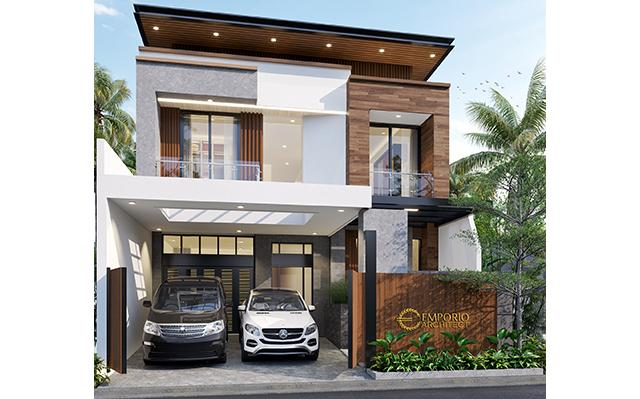Mr. Steven Modern Style House 2 Floors Design - Surabaya