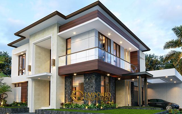 Desain Rumah Modern 2 Lantai Ibu Hesti di  Bogor, Jawa Barat