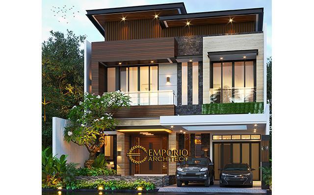 Desain Rumah Modern 2 Lantai Bapak Alex di  Jakarta Barat