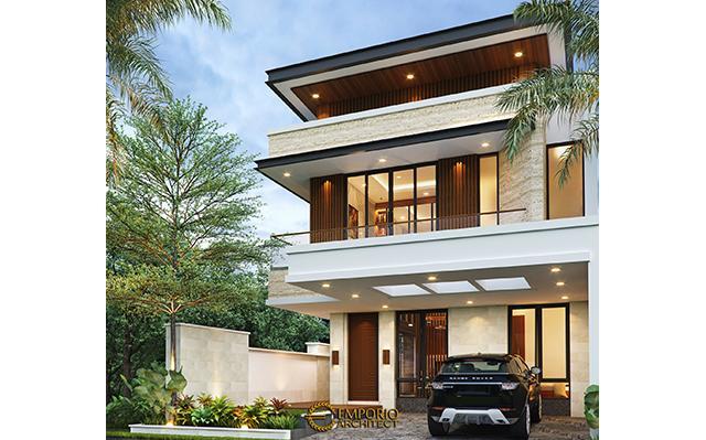 Desain Rumah Modern 2 Lantai Bapak Alby di  Batu, Malang, Jawa Timur