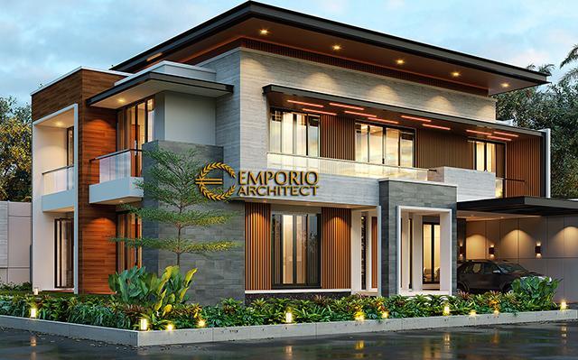 Desain Rumah Modern 2 Lantai Bapak Ben di  Cibubur, Jawa Barat