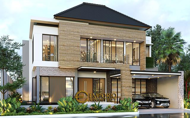 Desain Rumah Modern 2 Lantai Bapak Dharma di  Bekasi, Jawa Barat