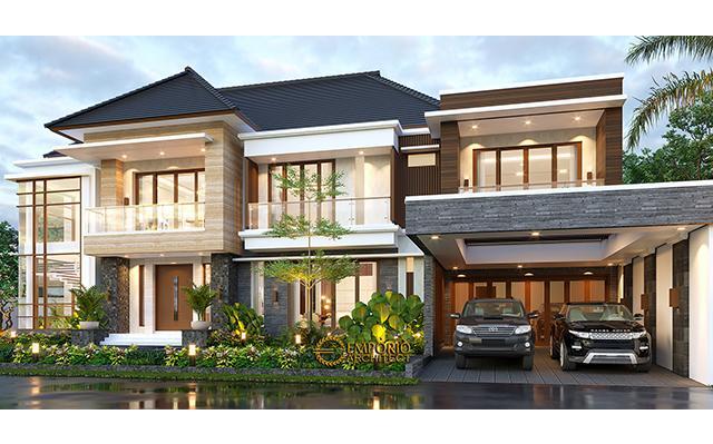 Desain Rumah Modern 2 Lantai Ibu Lucy di  Medan, Sumatera Utara