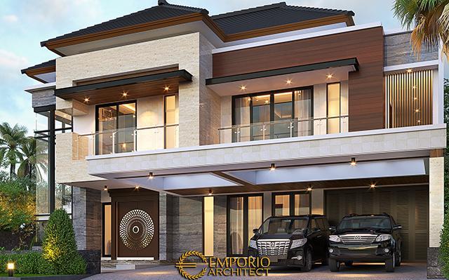 Desain Rumah Modern 2 Lantai Bapak Jefri di  Kota Wisata Cibubur, Bogor, Jawa Barat