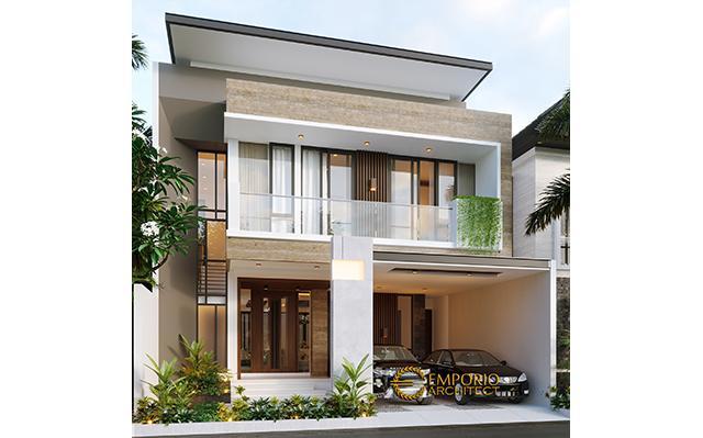 Desain Rumah Modern 2 Lantai Ibu Rina di  Bogor, Jawa Barat