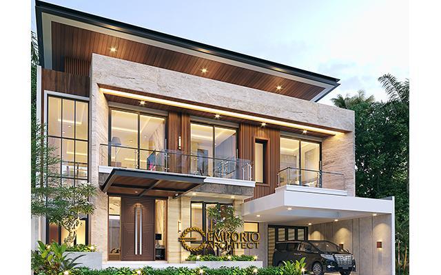 Desain Rumah Modern 2 Lantai Ibu Helen di  Bandung, Jawa Barat