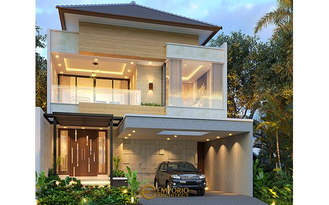 Desain Rumah Modern 2 Lantai Bapak Aliy Abdulloh di  Jakarta