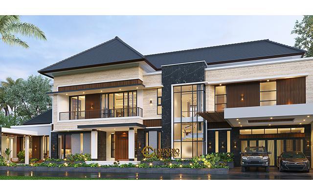 Desain Rumah Modern 2 Lantai Bapak Andi di  Lahat, Sumatera Selatan