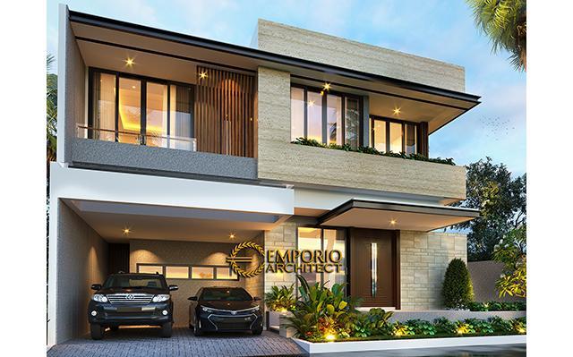 Desain Rumah Modern 2 Lantai Bapak Lukman di  Tangerang, Banten