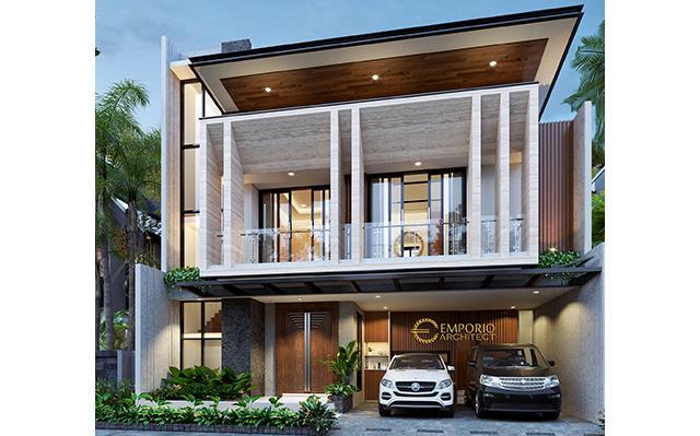 Desain Rumah Modern 2 Lantai Bapak Mujib di  Depok, Jawa Barat