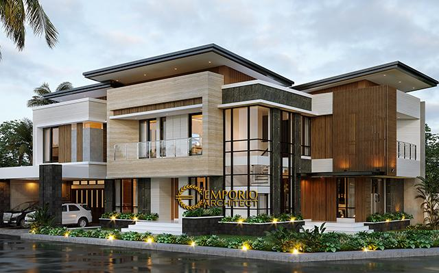 Mrs. Febry Modern House 2 Floors Design - Jayapura, Papua