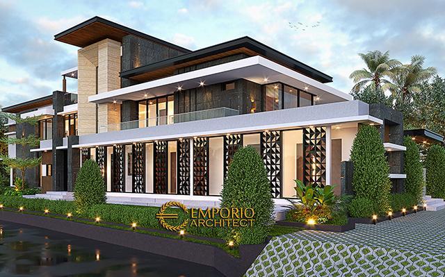Desain Rumah Modern 2 Lantai Ibu Sisca di  Bogor, Jawa Barat