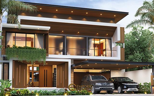 Desain Rumah Modern 2 Lantai Bapak Yoga di  Lampung
