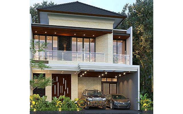 Desain Rumah Modern 2 Lantai Ibu Lia di  Bekasi, Jawa Barat