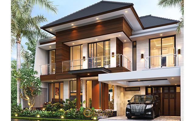 Desain Rumah Modern 2 Lantai Ibu Susan di  Bandung