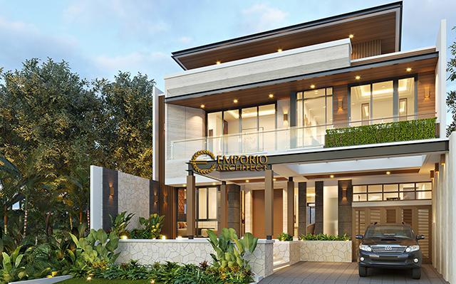 Desain Rumah Modern 2 Lantai Ibu Juliana di  Cikarang, Bekasi, Jawa Barat