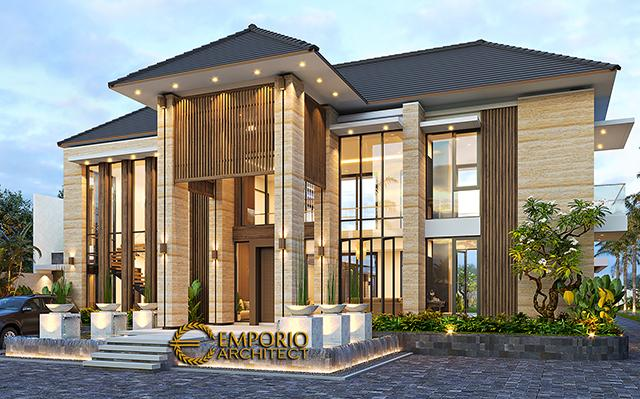 Desain Rumah Modern 2 Lantai Bapak Ngadiono II di  Serang, Banten