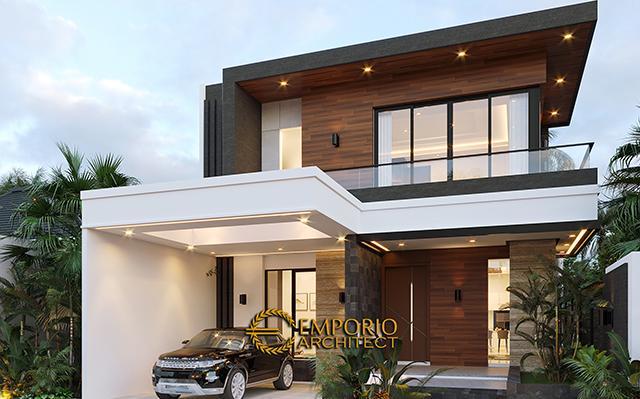 Desain Rumah Modern 2 Lantai Bapak Putra di  BSD, Tangerang Selatan, Banten
