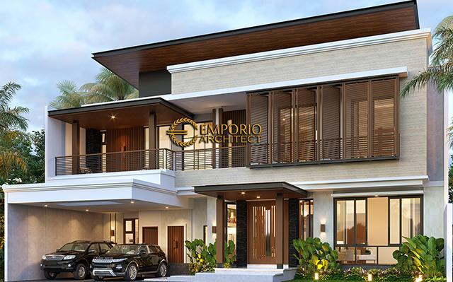 Desain Rumah Modern 2 Lantai Ibu Ivonne di  Yogyakarta