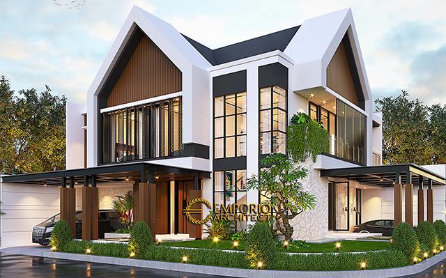 Desain Rumah Modern 2 Lantai Bapak Adam di  BSD, Tangerang Selatan, Banten