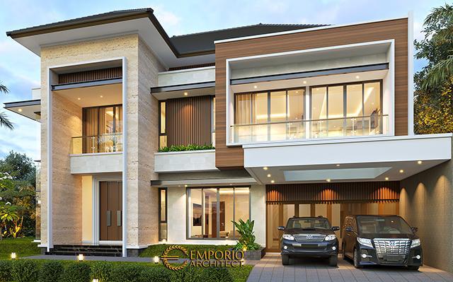 Desain Rumah Modern 2 Lantai Bapak Swanto di  Tangerang, Banten