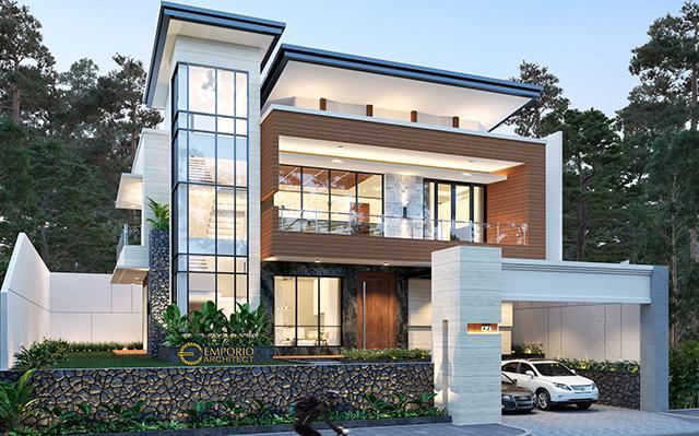Desain Rumah Modern 2 Lantai Bapak Andrianto di  Surabaya, Jawa Timur